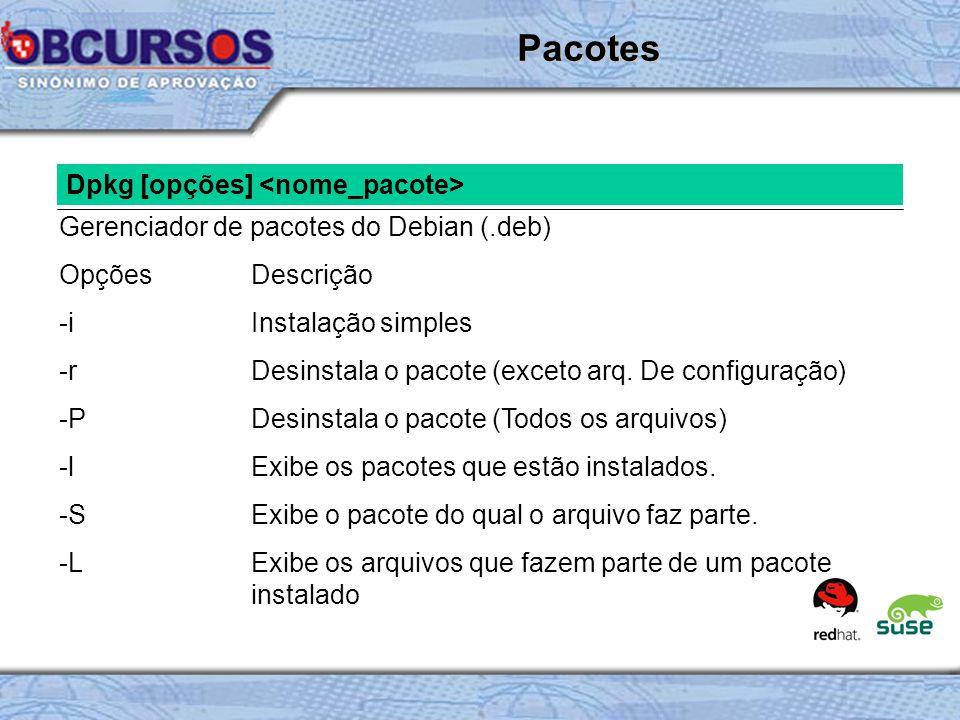 Pacotes Dpkg [opções] <nome_pacote>